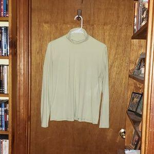 Women's White Stag Pale Green Turtleneck Shirt